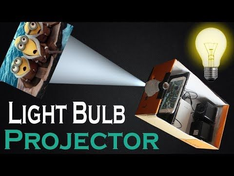 How To Make Smartphone Projector Without Magnifying Glass Using Bulb Shoe Box Bulb At Home Youtube Phone Projector Diy Phone Projector Diy Projector