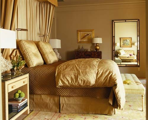 Luxury Interior Design Treatment with Harvest Gold Decoration Color