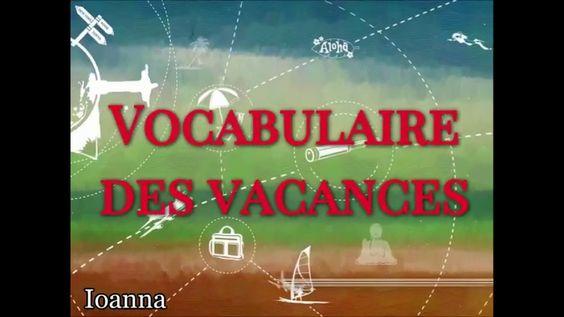 Vocabulaire des vacances