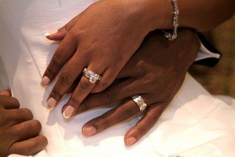 Wedding Rings On Hands African American