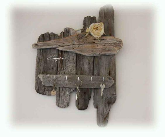 Porte cle en bois flott natydeco for Bougeoire en bois flotte
