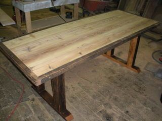 Reclaimed Lumber Unfinished Pine Wood With Oak Trim Dining Table.  #reclaimedlumber #barnwood Http://www.eaglereclaimedlumber.com/ | Wood  Tables | Pinterest ...