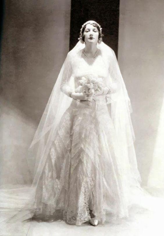 chanel wedding dress ca 1930 betty garst wearing a wedding dress