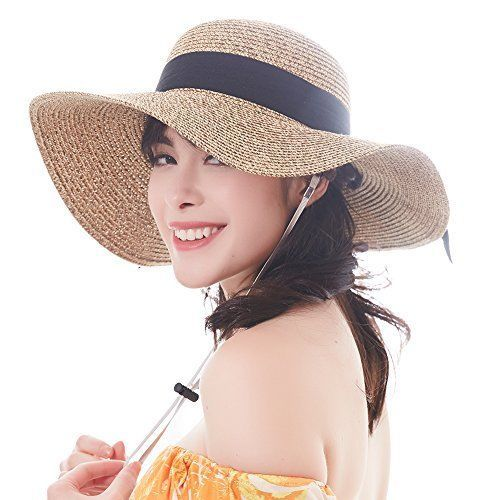 Furtalk Women Sun Straw Hat Wide Brim Upf 50 Beach Hats For Summer Bucket Shoes Furtalk