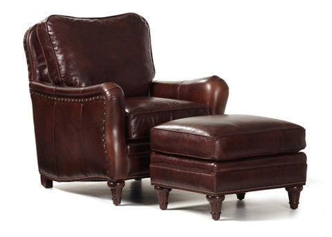 Finley Leather Chair U0026 Ottoman By Randall Allan
