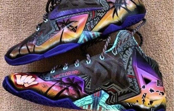 nike lebron 11 quotalohaquot custom just kicks pinterest