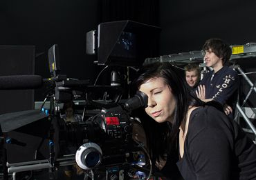 Highly Trained Staff; Here's Hannah Louisa Nicklin on the set of the Supergene Music Video
