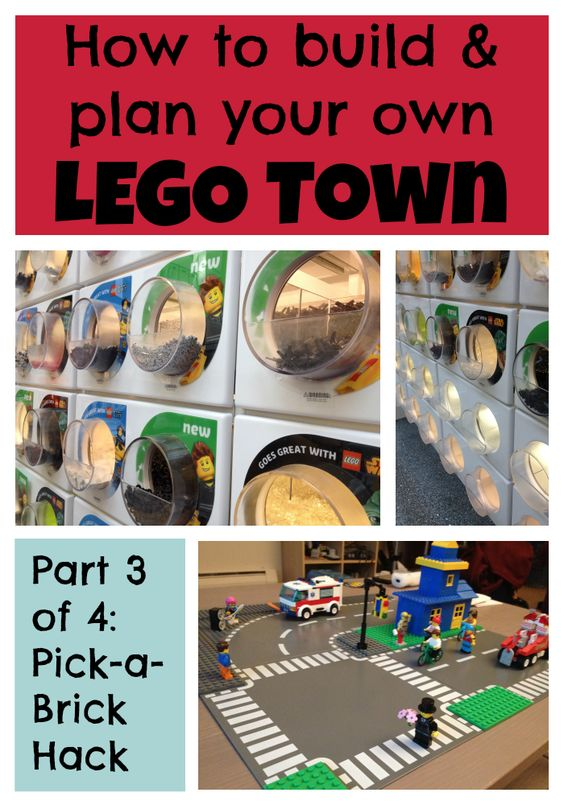 how to build a lego town part three pick a brick hack lego bricks and hacks. Black Bedroom Furniture Sets. Home Design Ideas