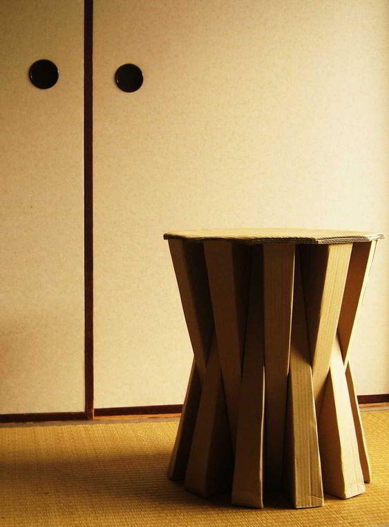 Unique au ergew hnliche m bel tisch sitz refold M bel M beldesign Pinterest Cardboard boxes and Box