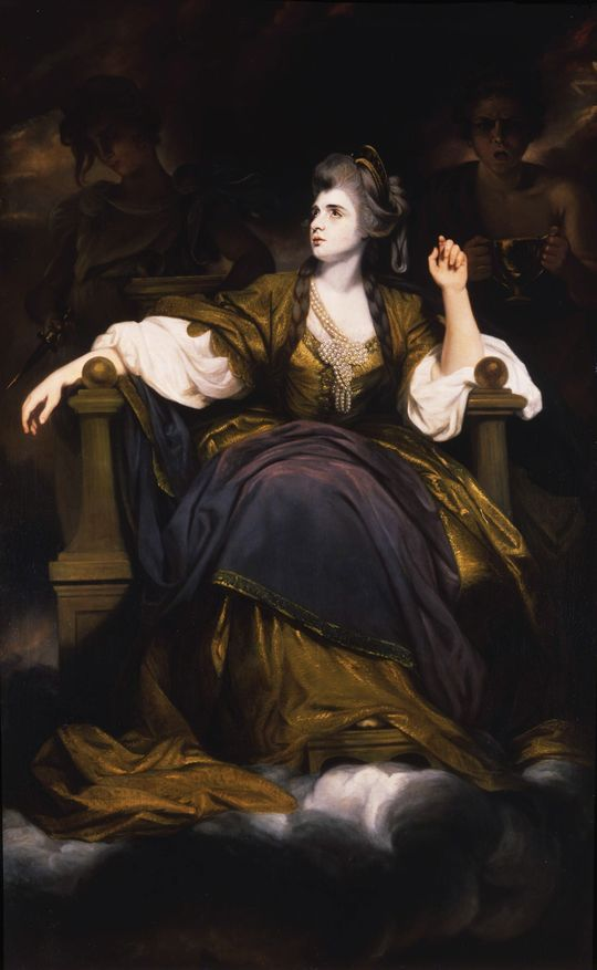 Studio of Sir Joshua Reynolds, Portrait of Sarah Siddons as the Tragic Muse, 1784 (Cobbe Collection, Hatchlands Park):