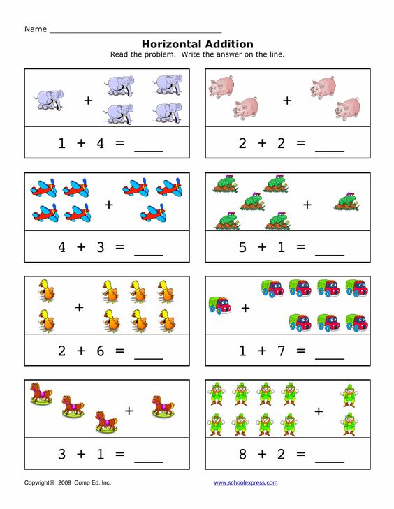 FREE worksheets Math Addition Sums 110 Horizontal and – Vertical Addition Worksheet