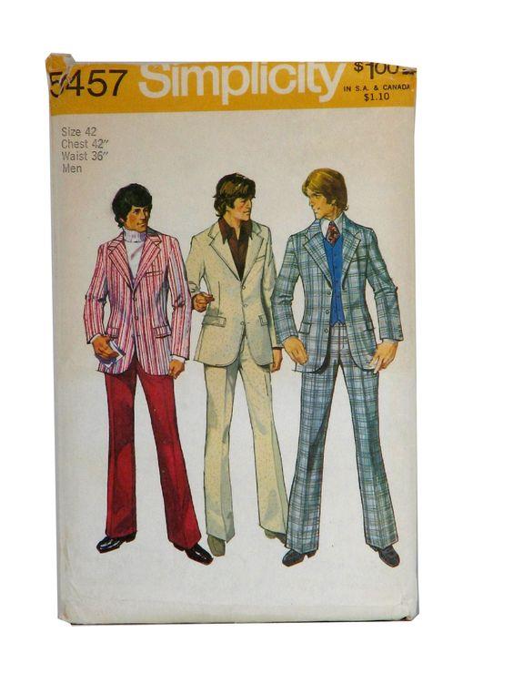 vintage 1970s super-hip menswear, Leisure suits