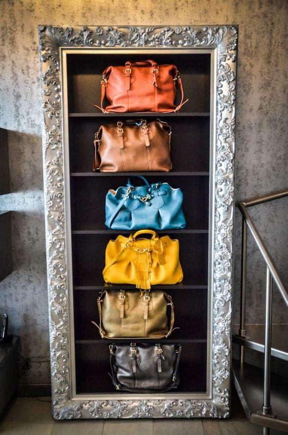 VM   Retail Design   Accessories VM   Visual Merchandising   Handbag display