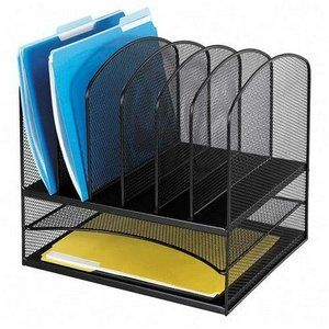 Safco Mesh Desk Organizer with Two Horizontal and Six Upright Sections (3255BL) $39.75