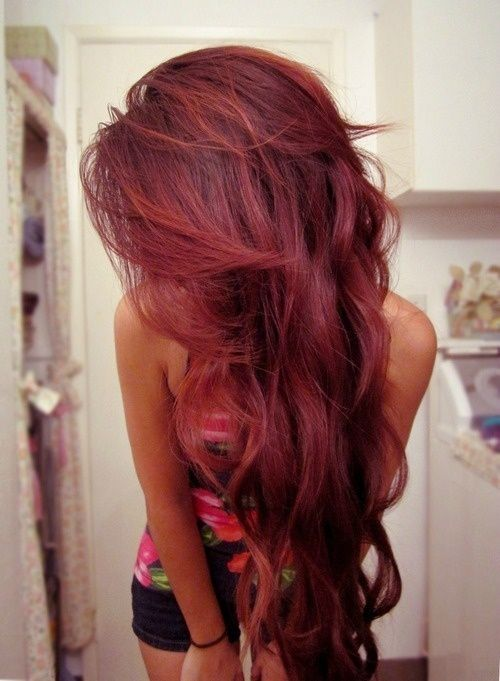 long, pretty, red, reddish, hair