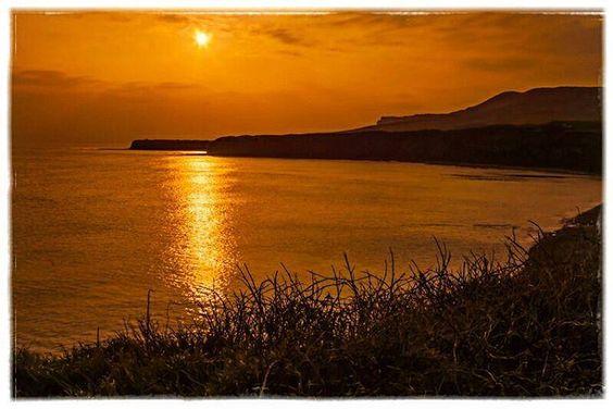 https://flic.kr/p/LfWJ7p | Sunset at Kimmeridge Bay, Dorset. #sunset #sea #sun…