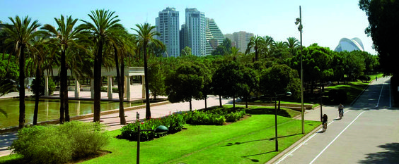 Poumon vert de Valence, les jardins de Turia ont été emménagés dans l'ancien fleuve de la ville. Pistes cyclables, activités sportives, jeux pour enfants... Un endroit parfait pour se détendre!