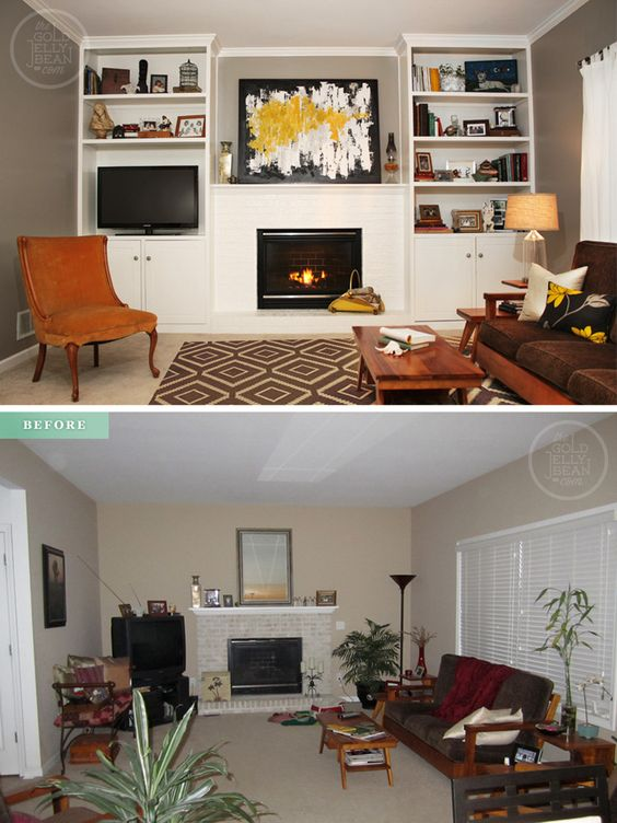 Living room makeover on a budget before and after make for Living room renovation before and after