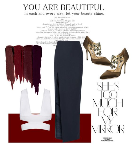 """""""simple glam"""" by alyssaknowlton-ak ❤ liked on Polyvore featuring Rika, Elizabeth and James, Manolo Blahnik and Serge Lutens"""