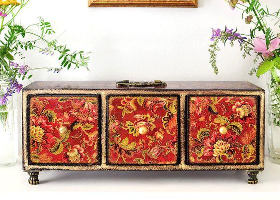 Mini commode - boîte à bijoux - apothicaire Cabinet - thé boîte - organiseur de…