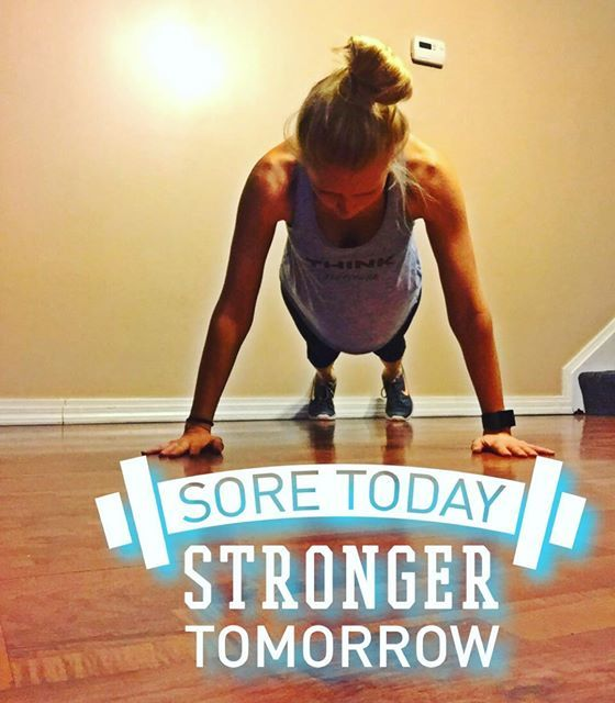 I always get a little sore when I start a new workout routine but I know that's a good thing and that lean muscle is building! Do you workout when sore? You should- just concentrate on different muscles!