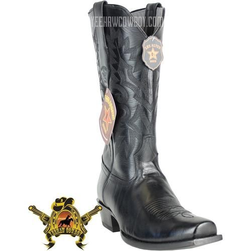 Men/'s Stitched Gray Leather Western Cowboy Boots Riding Rodeo J Toe