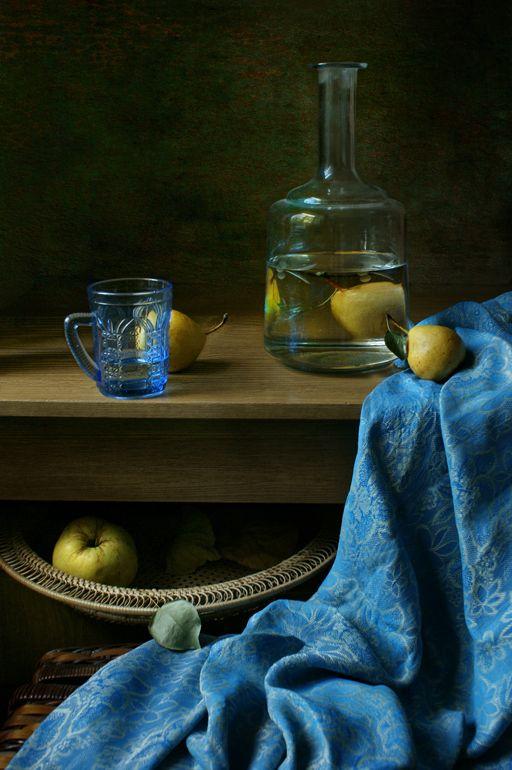 The decanter and blue cloth. by Elena Kolesneva, via 500px