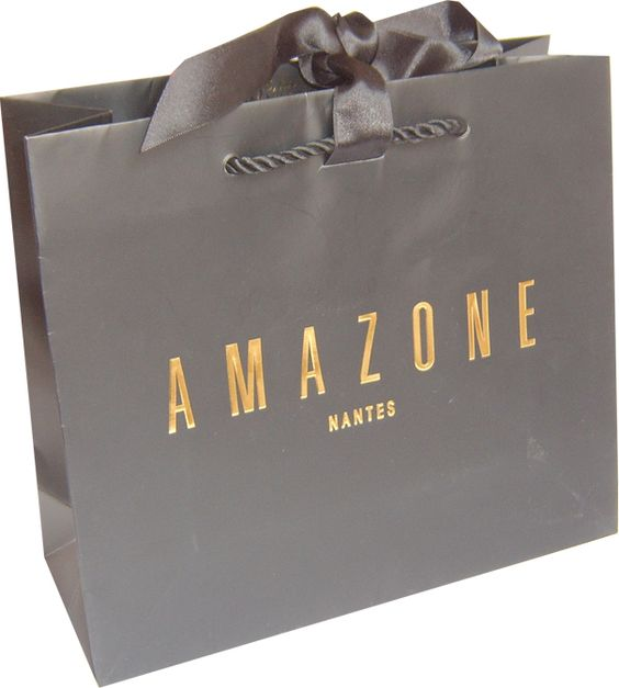 Paper Shopping Bags With Ribbon Closure Packages