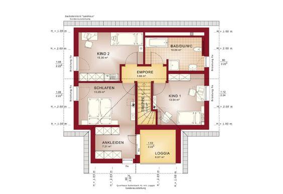 Einfamilienhaus Grundriss EG modern mit offener Küche und - grundriss küche mit kochinsel