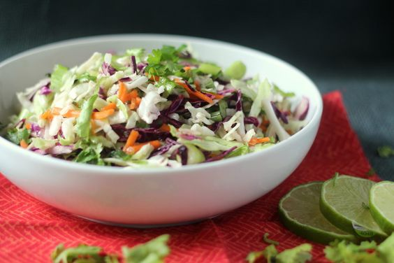 Cilantro Lime Coleslaw: This super simple and healthy slaw has a nice ...