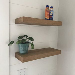 Floating Custom Shelf 2 3 5 Thick 24 Etsy In 2020 Shelves Floating Shelves Floating