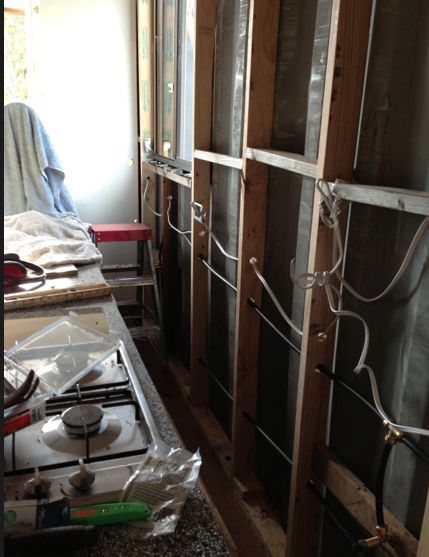 Building, Walls, Kitchen, Wiring roughin, plumbing