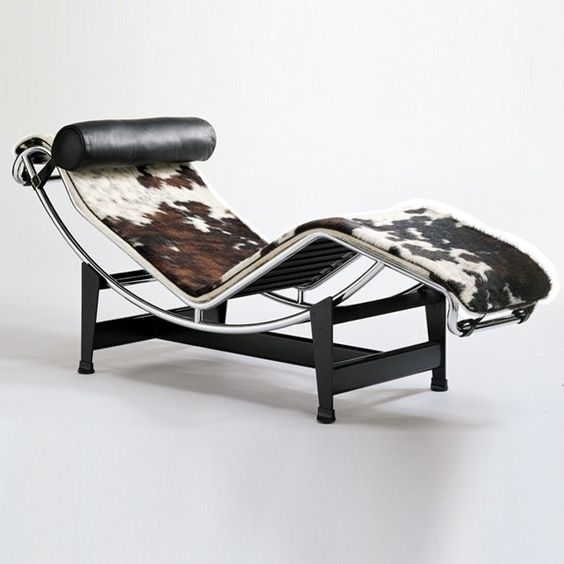 Chaise longue charlotte perriand and le corbusier on for Chaise le corbusier lc4
