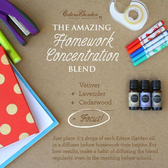 The Amazing Homework Concentration Blend Essential Oils For Focus Edens Garden Essential Oils Essential Oils Focus Essential Oils For Kids