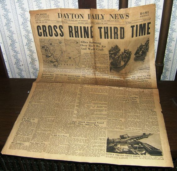 The 1945 Dayton Ohio Daily News World War II Edition-Over the Rhine from the TruNorthPickers on Etsy