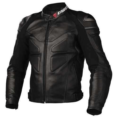 Dainese Avro C2 Leather Jacket Black Color Motorcycle Racing Road Protection Lead Style Leather Jacket Leather Jacket Black Leather Jacket Men