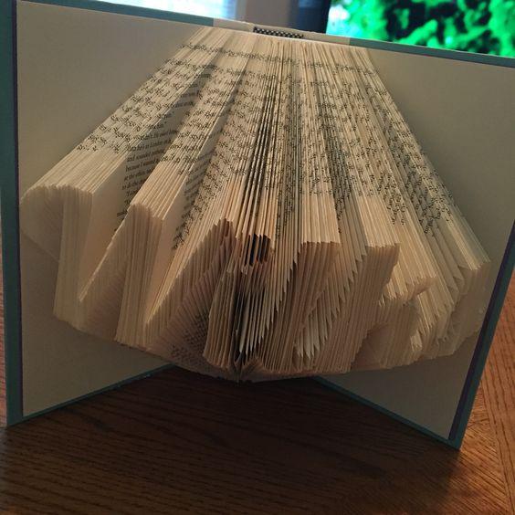Wilks surname folded book art. Custom order