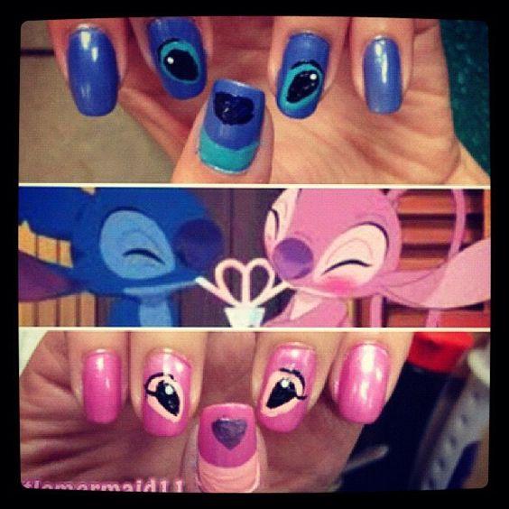 Nail Art Stitch: Beautiful Disney Nails