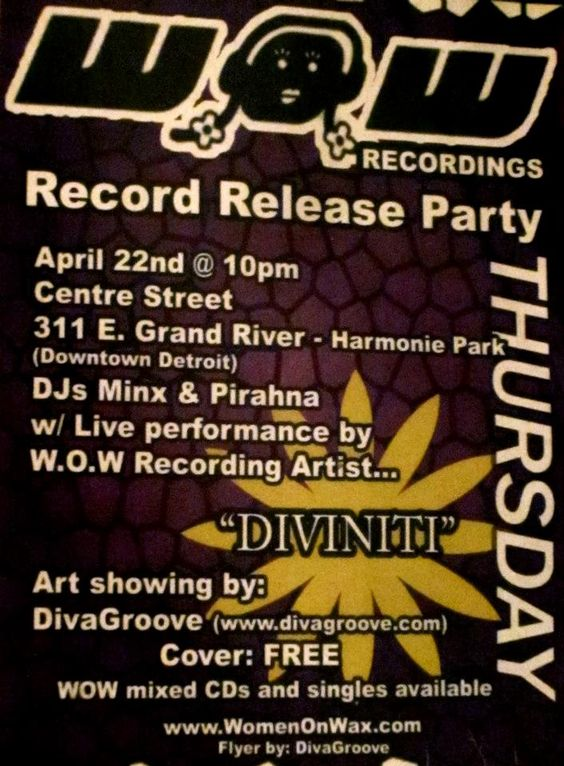 Wow Record Release Party Recording Artists Flyer Records
