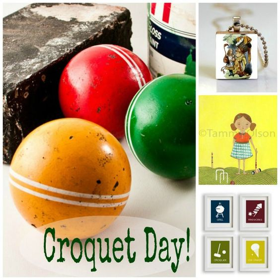 Celebrate Croquet Day with a lively game of croquet!  Great for summer barbeque and family reunion fun!