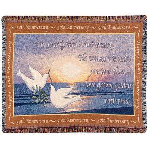 Wedding Anniversary Gifts Online Usa : ... Anniversary Throw50th Wedding Anniversary Party GiftMade in USA