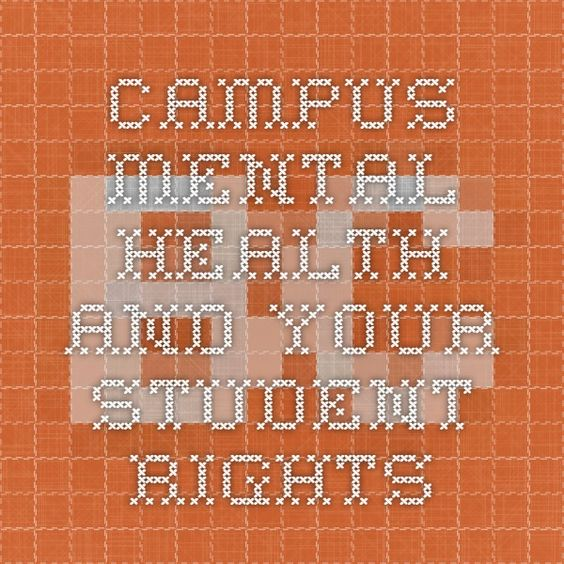 Campus mental health and your student rights
