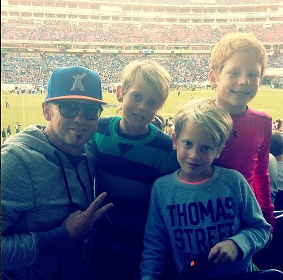 Toby,leo,Judah,and friend at football game