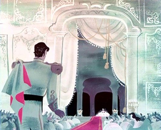 Concept art for Disney's Cinderella, 1950: