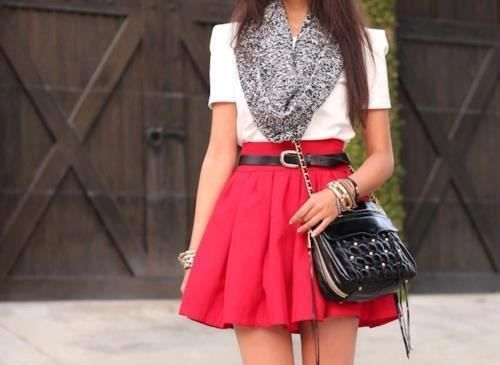 love the red skirt