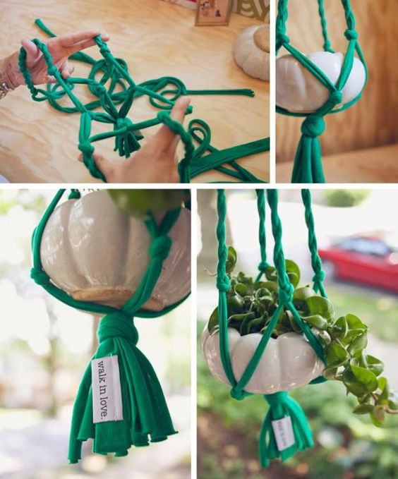 T-Shirt Plant Hanger // DIY - tutorial