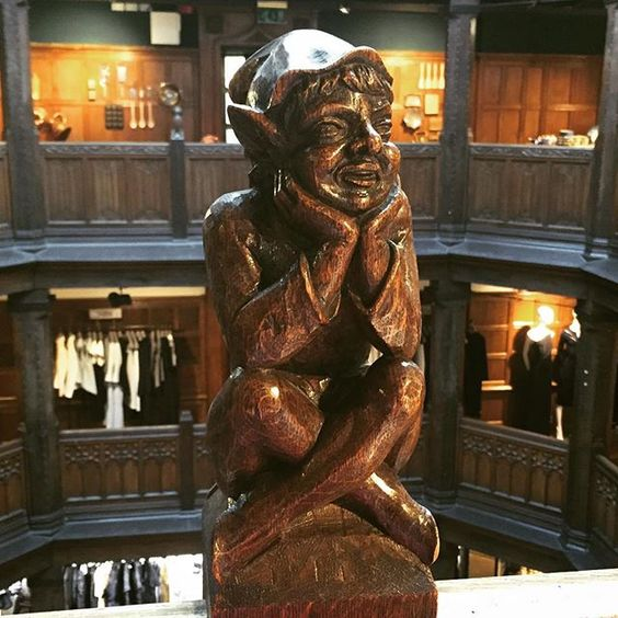 The Laughing Gnome #woodcarvings #liberty #iconic #london #architecture #gnome #libertylondon - Thanks @pippic68