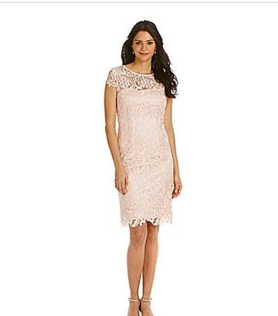 547412489 Lace Dress with Cap Sleeve Mother of the Bride Houston ...
