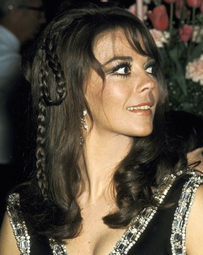 Natalie Wood braided hair
