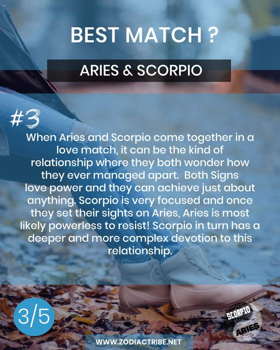 Aries And Scorpio Compatibility Love Match 3 Aries And Scorpio Scorpio Compatibility Compatible Zodiac Signs